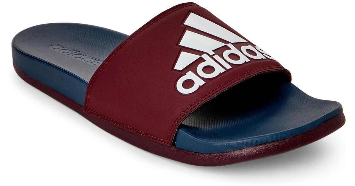 aba87a2b39d8 Lyst - adidas Adilette Cf Logo Slide Sandals in Blue for Men