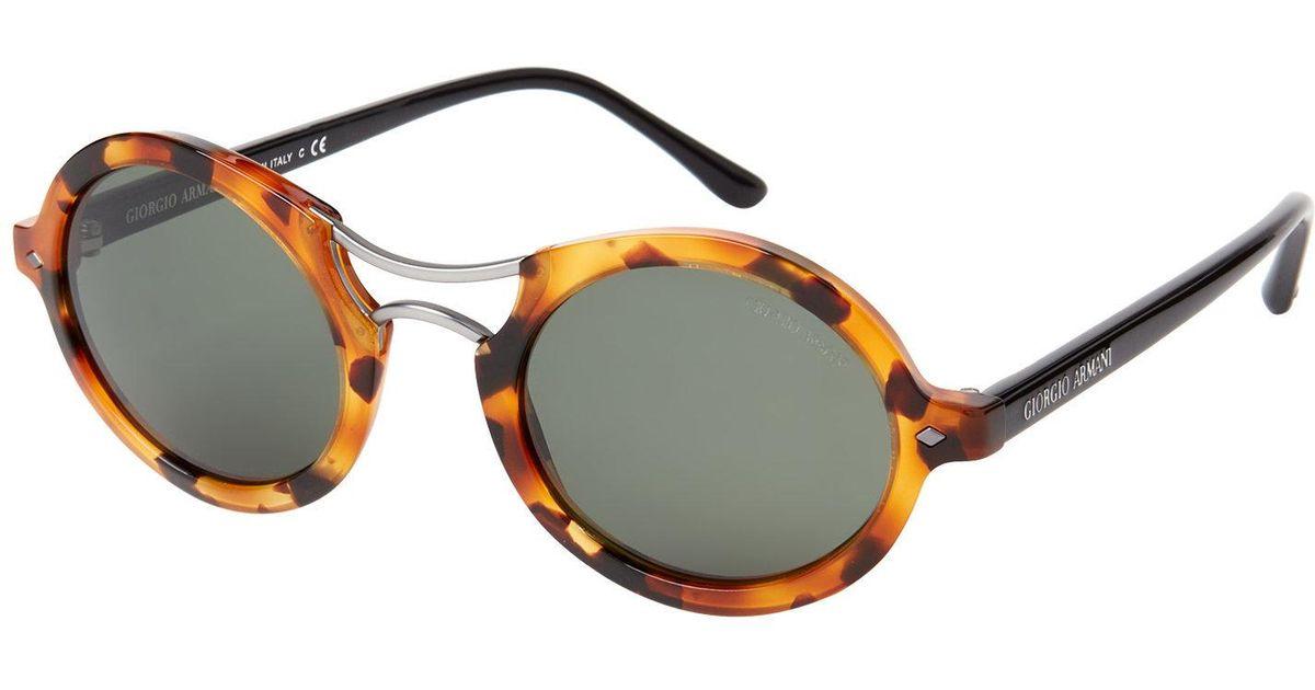 de98daf9f67c Lyst - Giorgio Armani Ar8072 Tortoiseshell-look Round Sunglasses