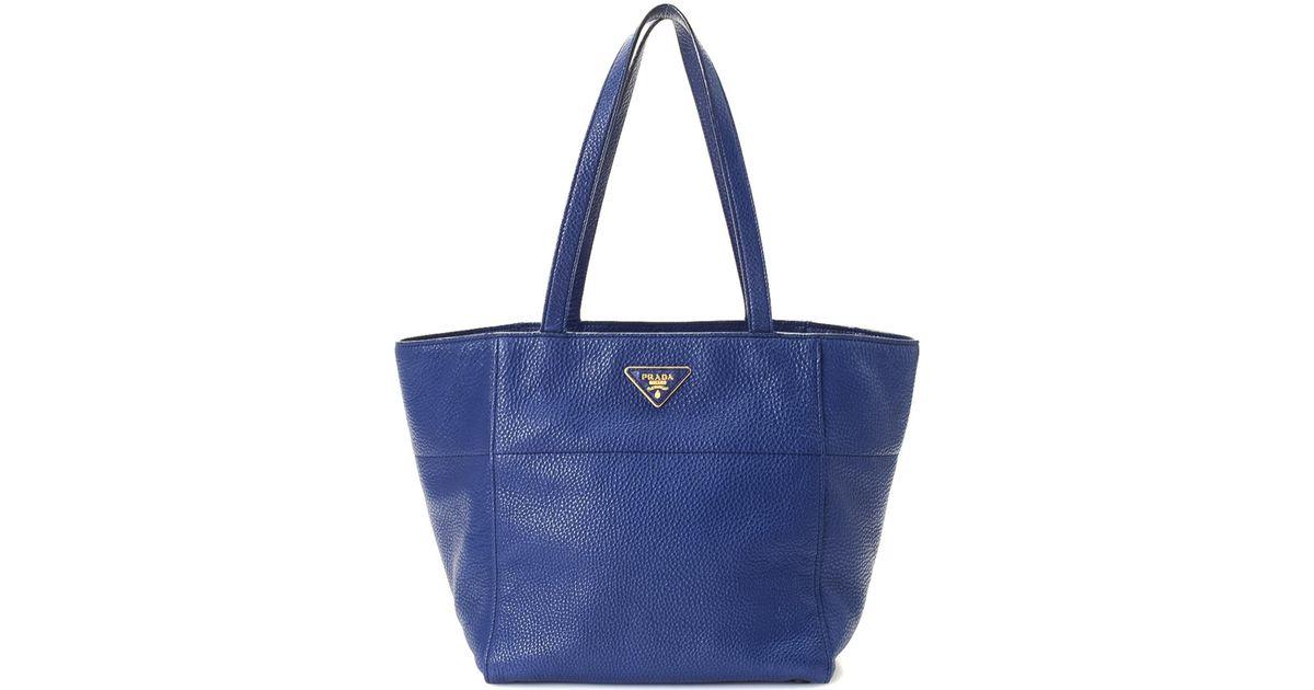 fad8df4b7708d Lyst - Prada Vitello Daino Tote - Vintage in Blue