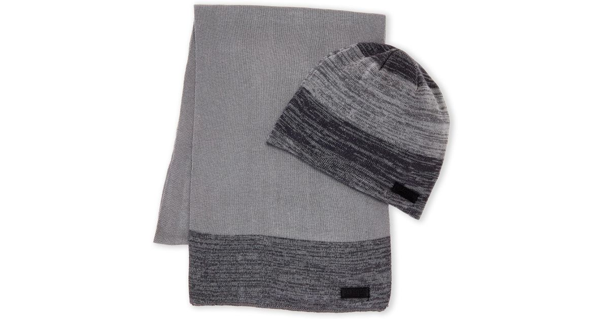 Kenneth Cole Reaction - Gray Grey Marled Hat   Scarf Set - Lyst 04080159000