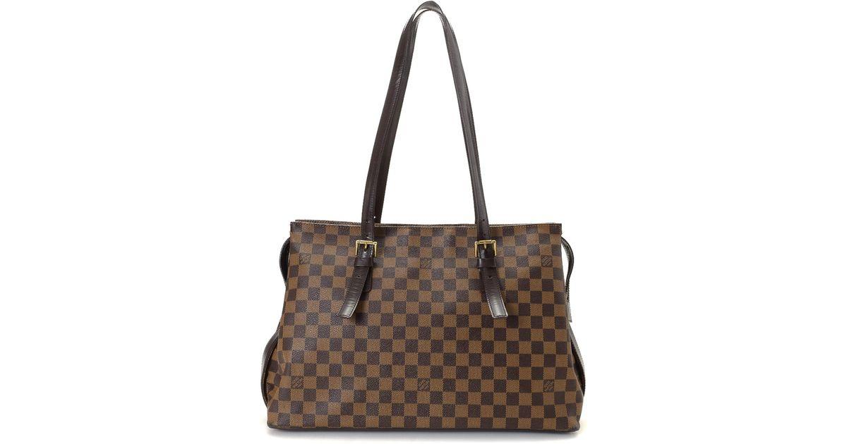ea0feecebe90 Lyst - Louis Vuitton Damier Ebene Chelsea Tote - Vintage in Brown