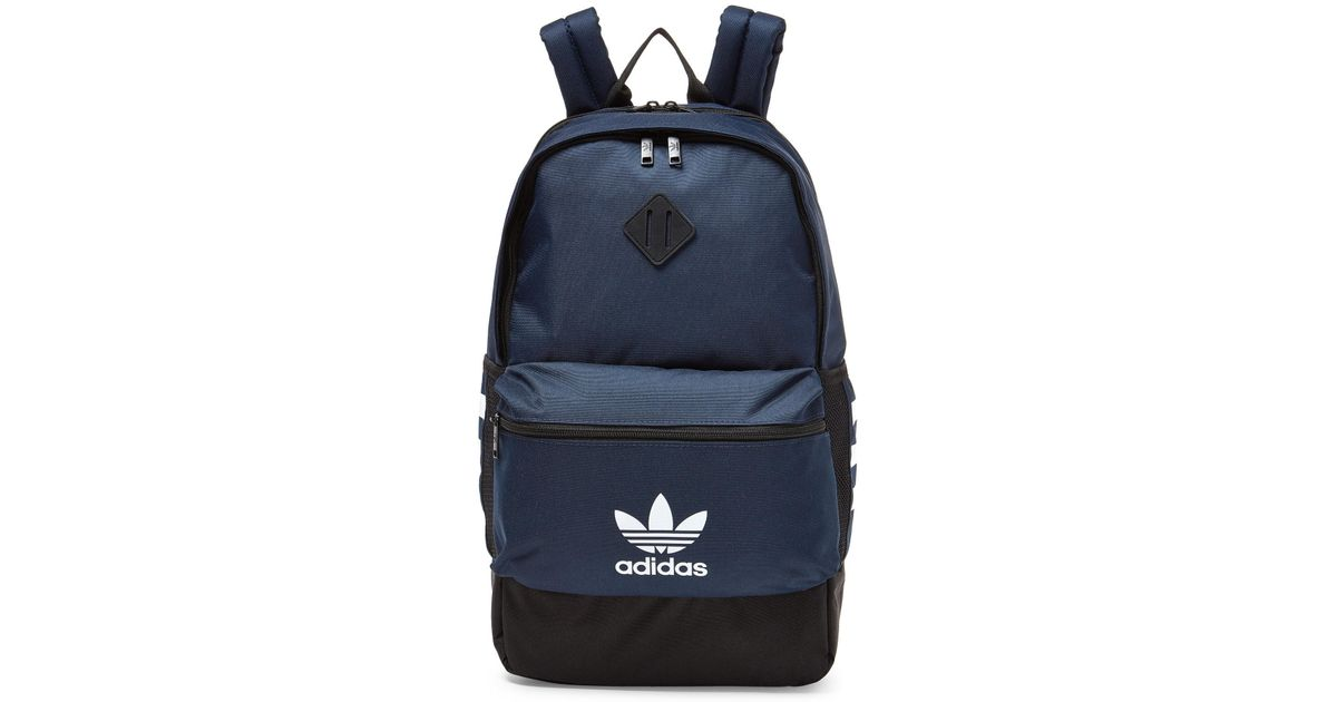 Lyst - adidas Navy 3-stripe Backpack in Blue 10b16405d4e26