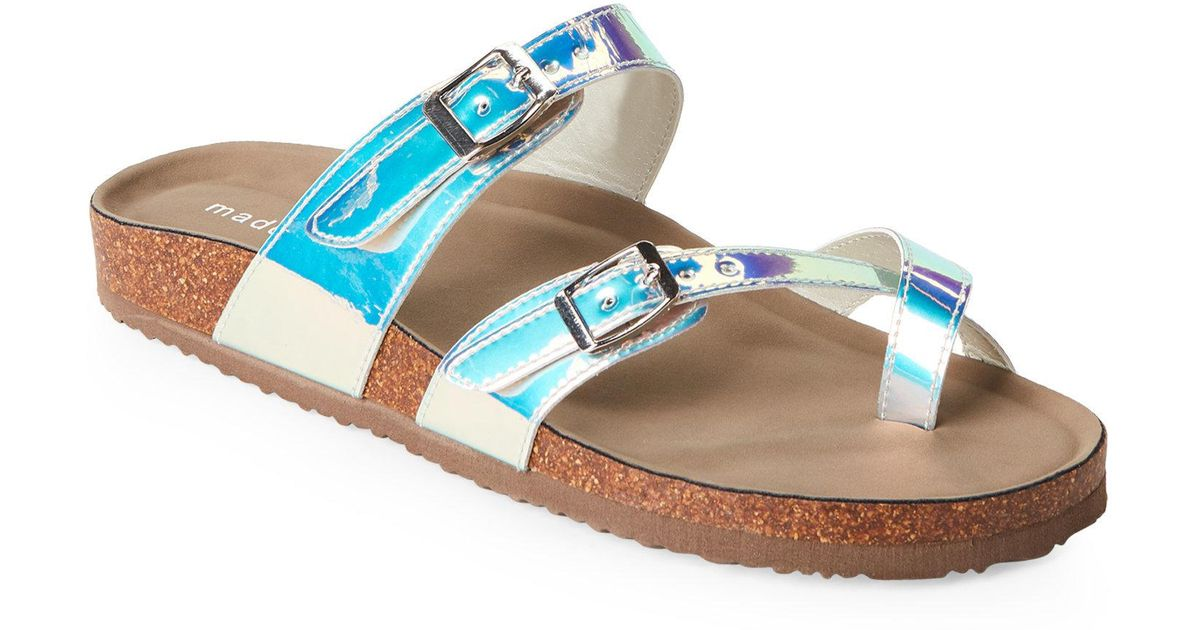7daf9196dead10 Madden Girl - Multicolor Iridescent Bryceee Footbed Sandals - Lyst