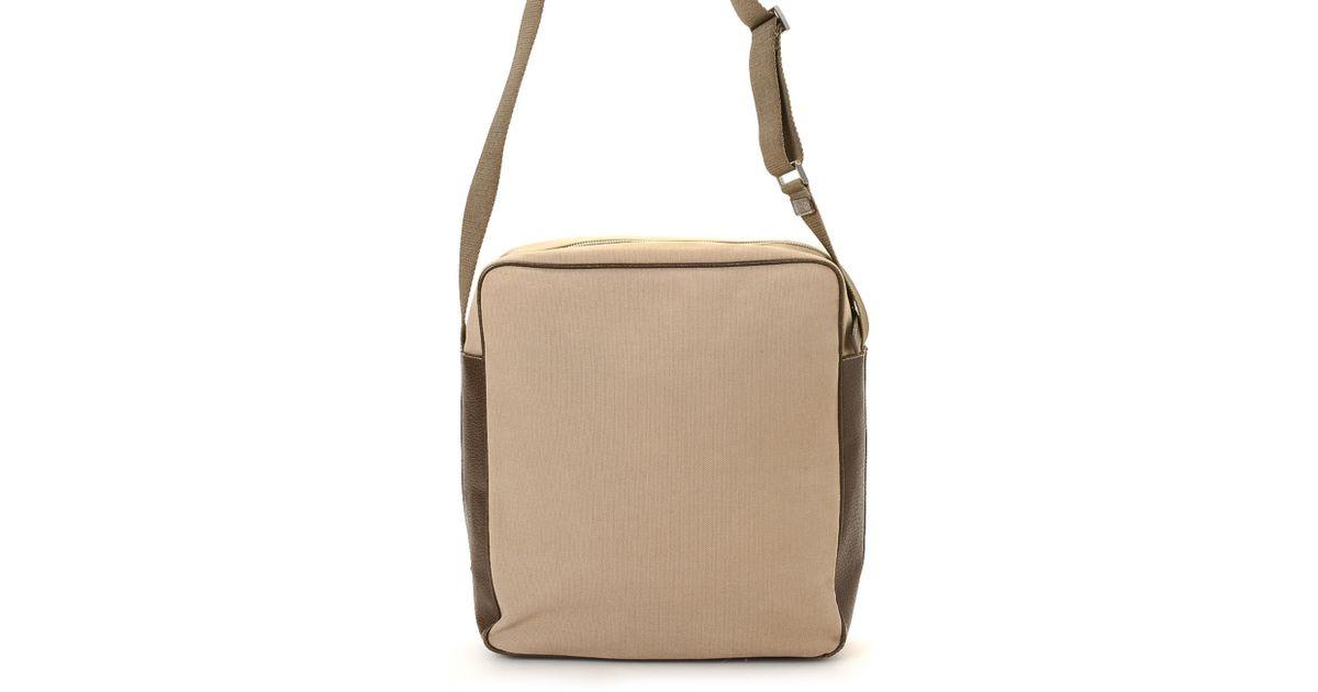 9cbec86a26 Lyst - Prada Canvas Crossbody Bag - Vintage in Natural