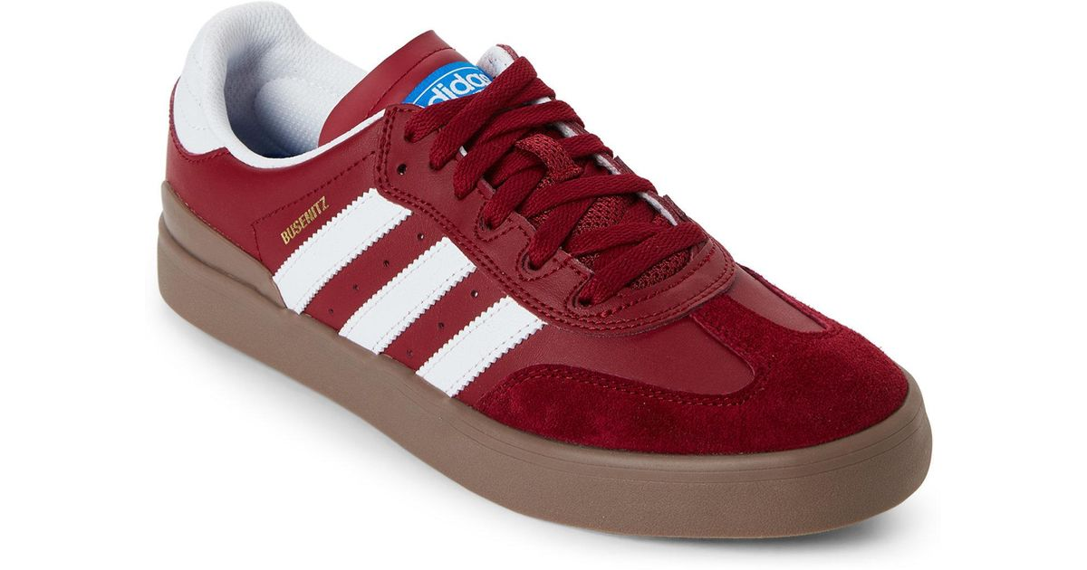 2cb2f37e835 Lyst - adidas Burgundy   White Busenitz Vulc Rx Low-top Sneakers in Red for  Men