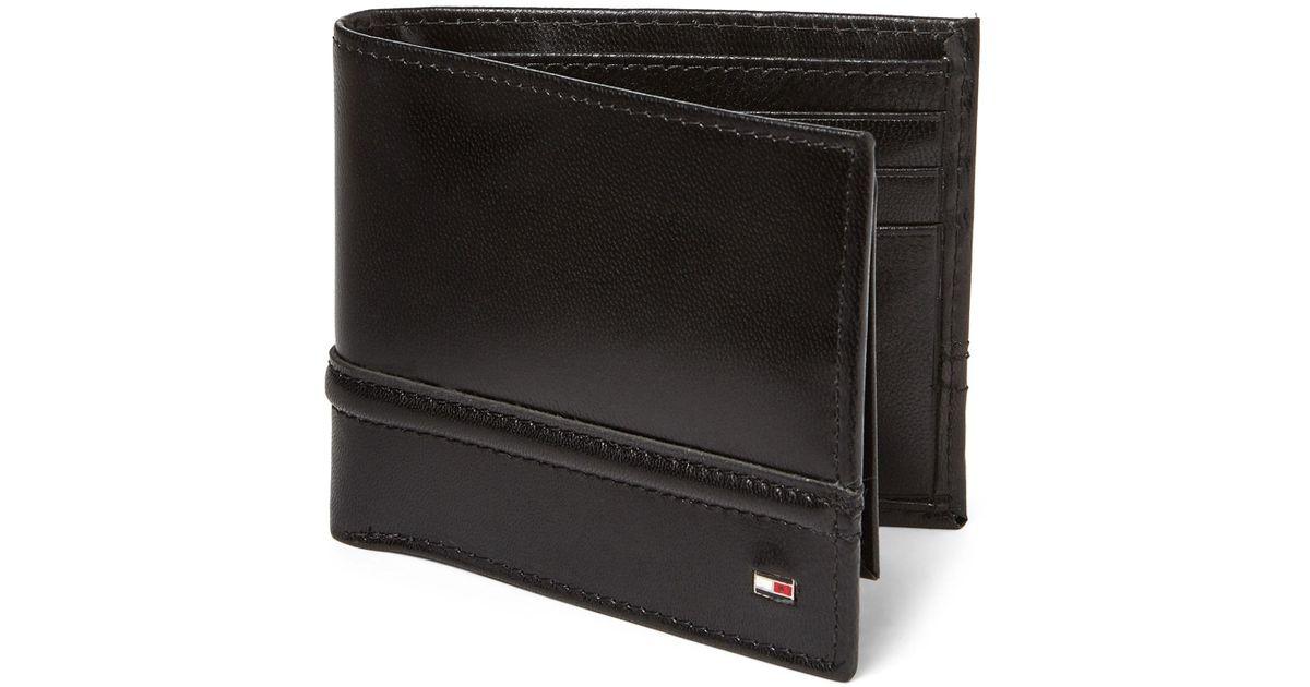 d629f167 Tommy Hilfiger Brevin Rfid Leather Passcase Wallet in Black for Men - Lyst