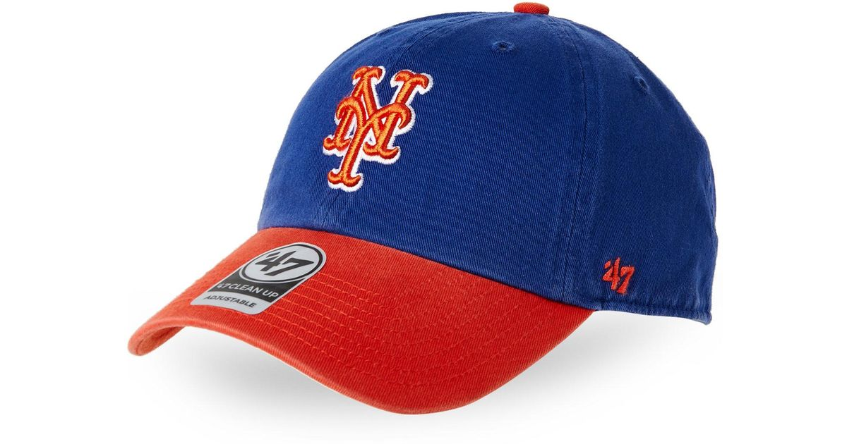Lyst - 47 Brand New York Mets Two-Tone Clean Up Cap in Blue for Men 9bace95bf61e
