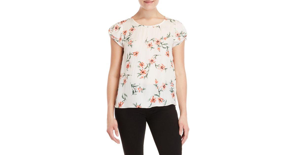 5569bcaae4440 Lyst - Joie Elline Floral Top