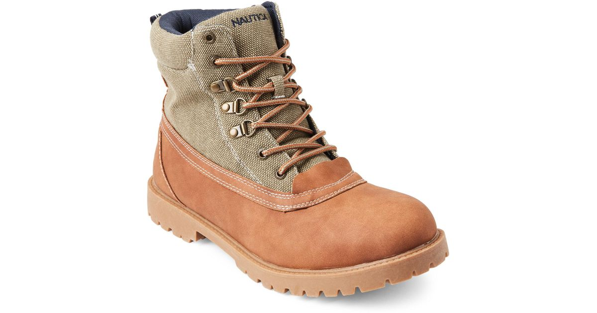 Lyst - Nautica Khaki   Tan Alameda Lace-up Boots for Men a1da540c7