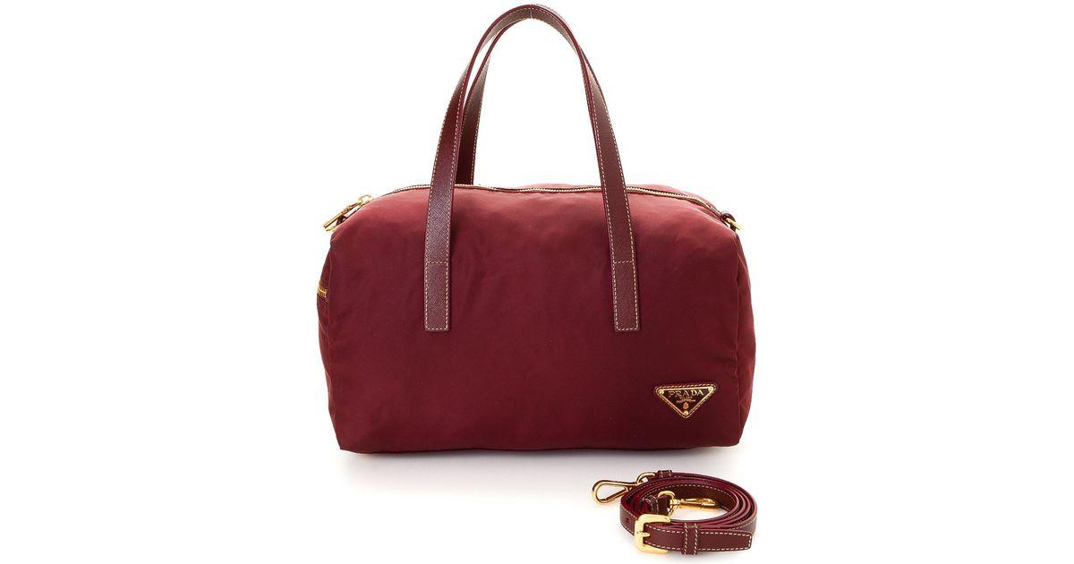 d28f0e4e680a Lyst - Prada Tessuto Two Way Nylon Shoulder Bag - Vintage in Red