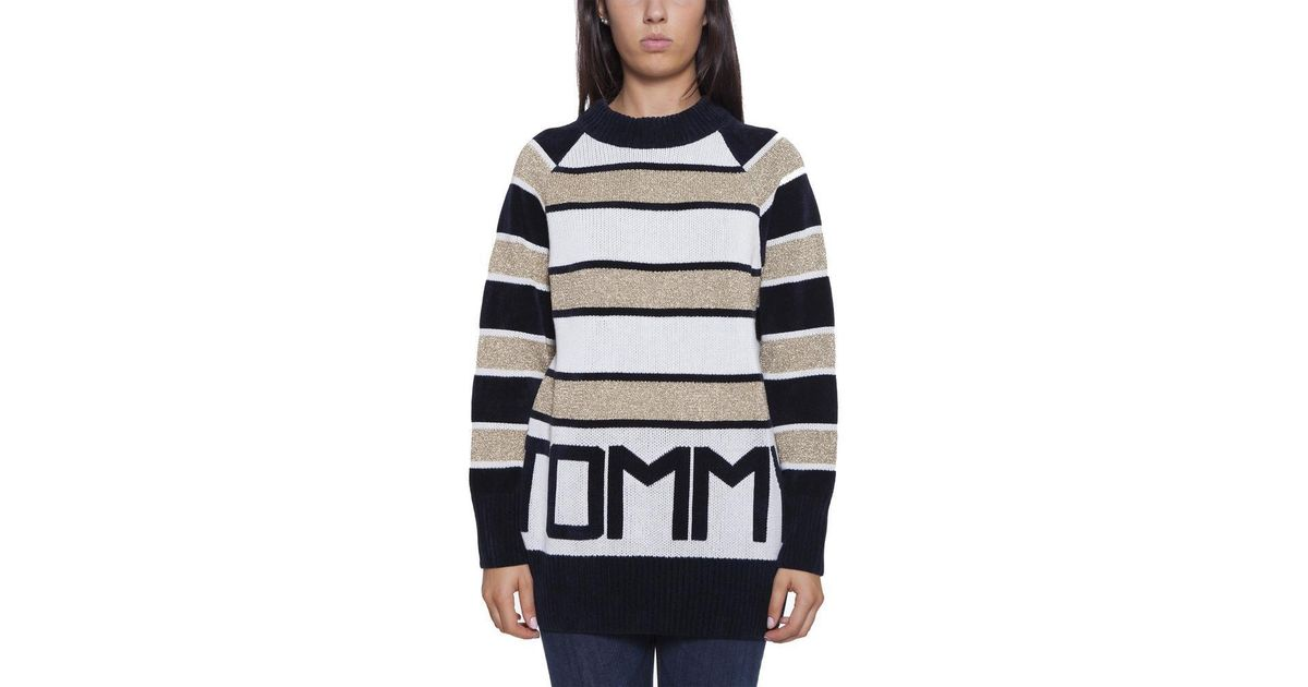 d1530a60 Lyst - Tommy Hilfiger Icons Striped Sweater in Gray