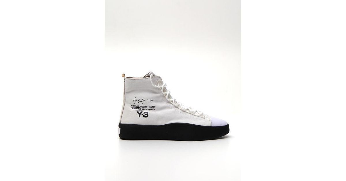 49bae5f0a Lyst - Y-3 Bashyo Hi Top Sneakers in White for Men