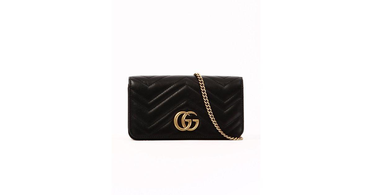 2ca5d19c41e390 Gucci Gg Marmont Clutch Bag in Black - Lyst
