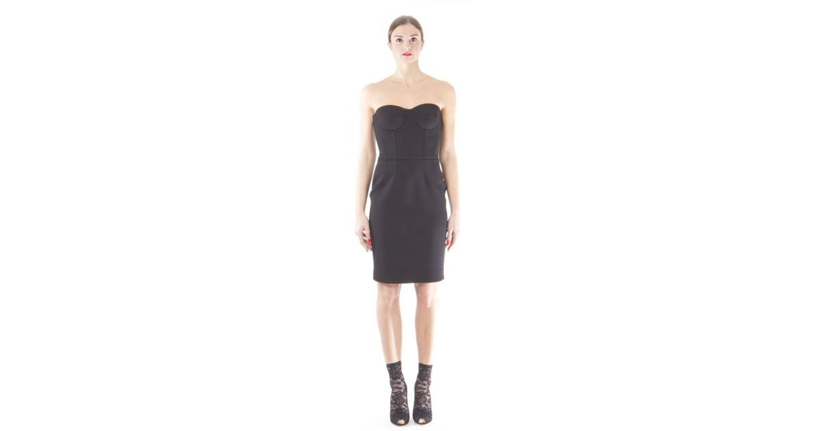 97bf8ab6064a8 Dolce & Gabbana Corset Dress in Black - Lyst