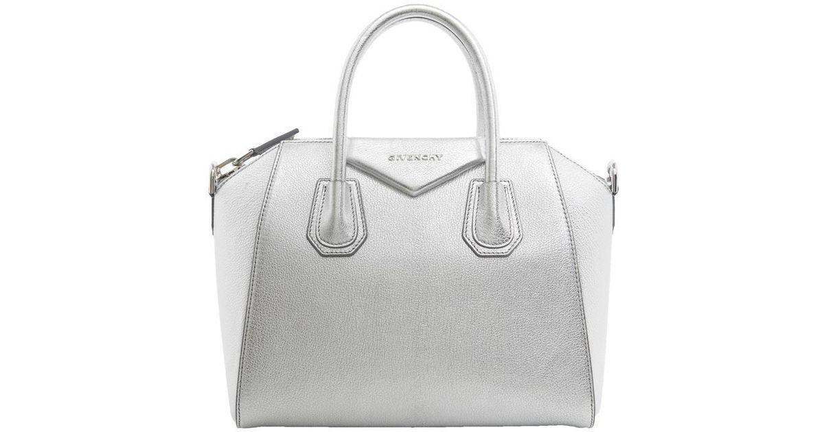 44e78cba0048 Lyst - Givenchy Antigona Medium Tote Bag Silver in Metallic