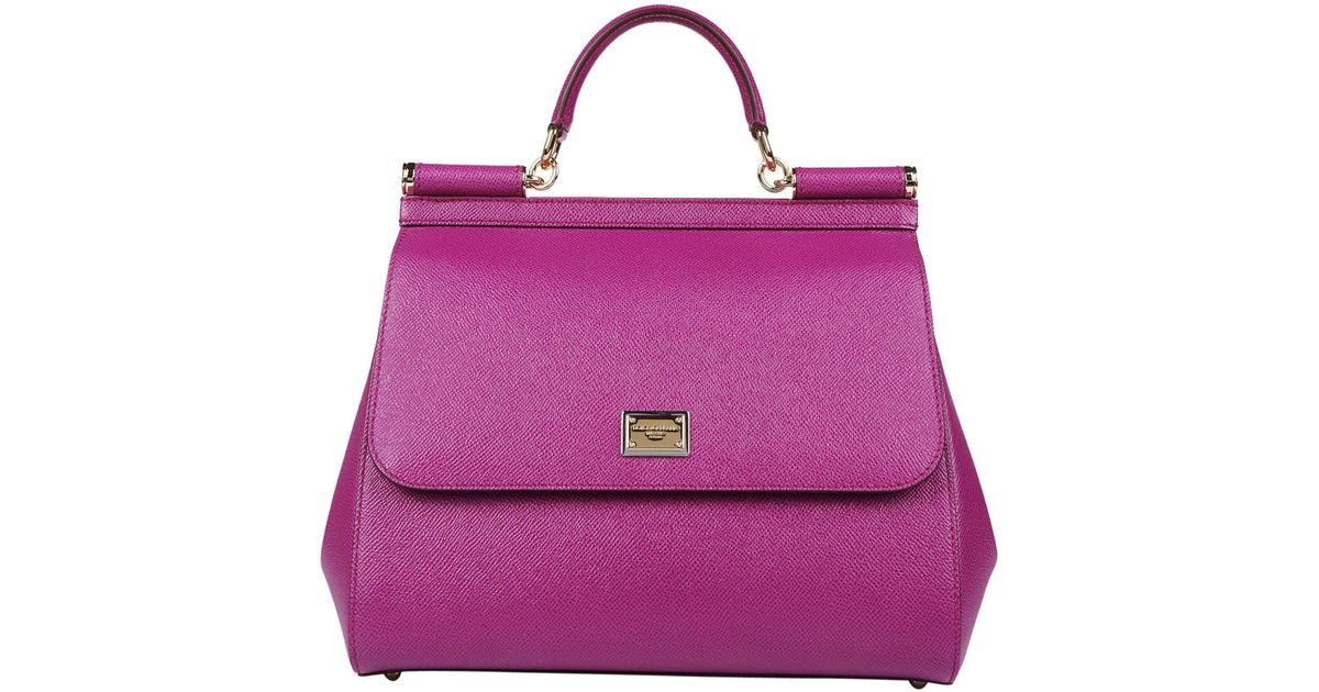 Lyst - Dolce   Gabbana Sicily Large Tote Bag in Purple 17da6bc658553