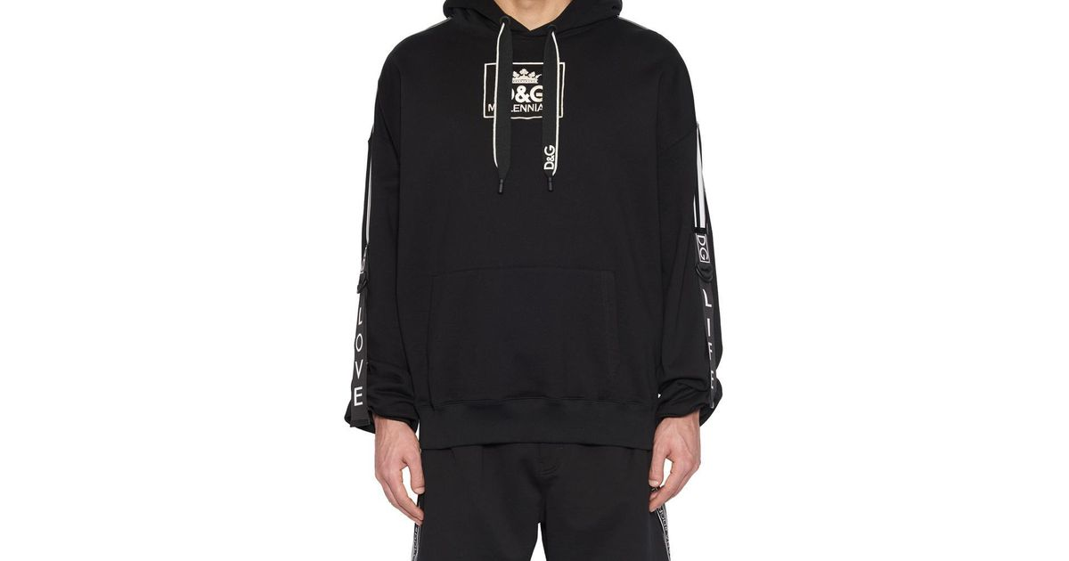 3bfe2223994d Dolce & Gabbana Logo Hoodie in Black for Men - Lyst