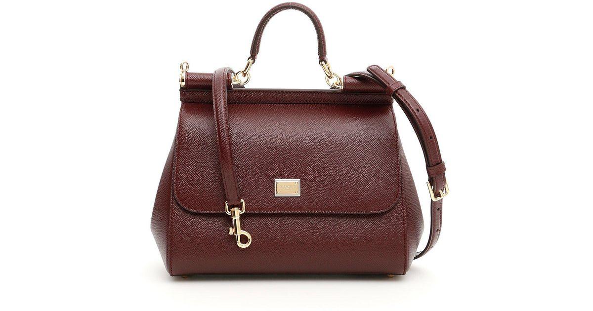 Lyst - Dolce   Gabbana Medium Sicily Tote Bag in Purple a2767b85f6f07