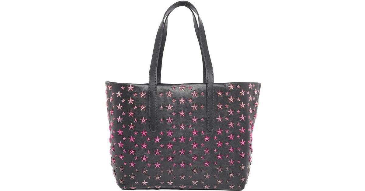 a63208c19 Lyst - Jimmy Choo Sofia Star Studded Shopping Tote