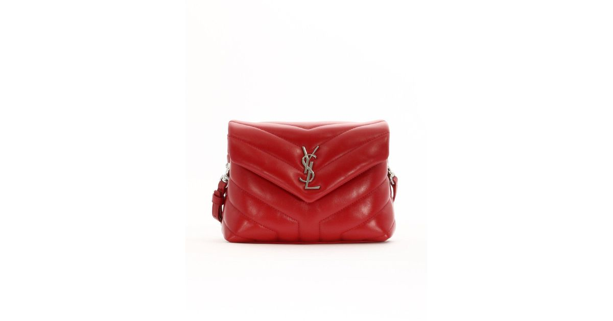 Lyst - Saint Laurent Lou Lou Crossbody Bag in Red 15356fad3169c