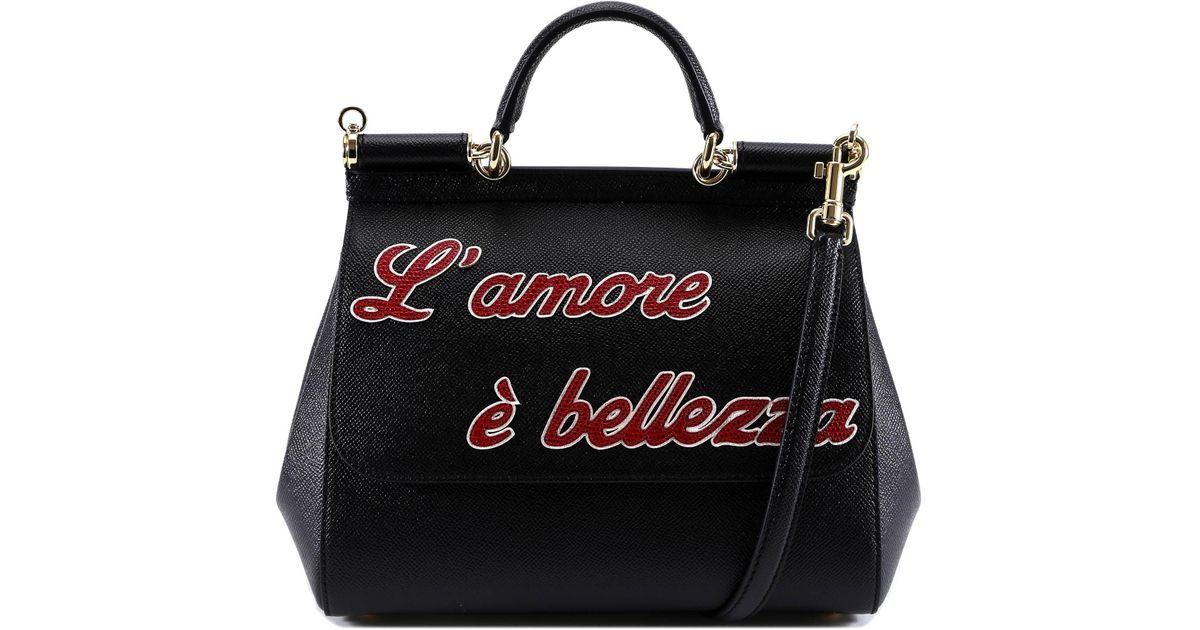 Lyst - Dolce   Gabbana L amore Sicily Tote Bag in Black 15e2f530c5cf7