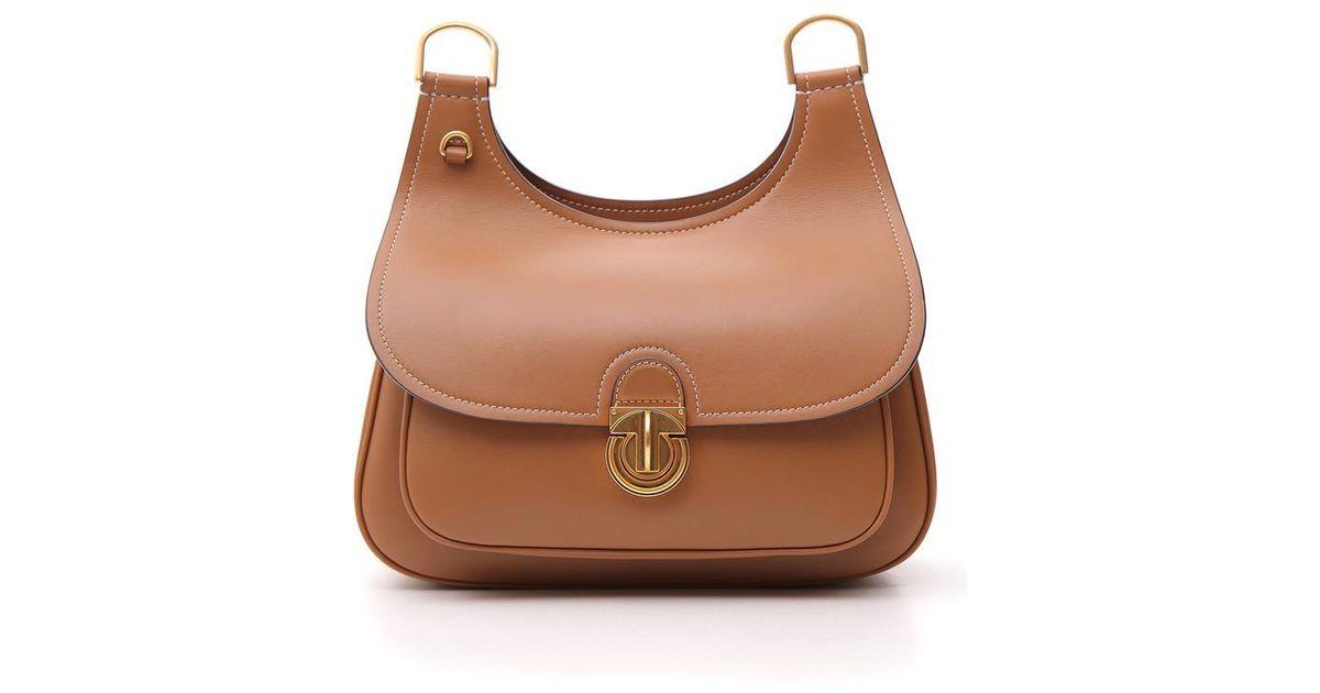 d8143259956 Tory Burch James Shoulder Bag in Brown - Lyst