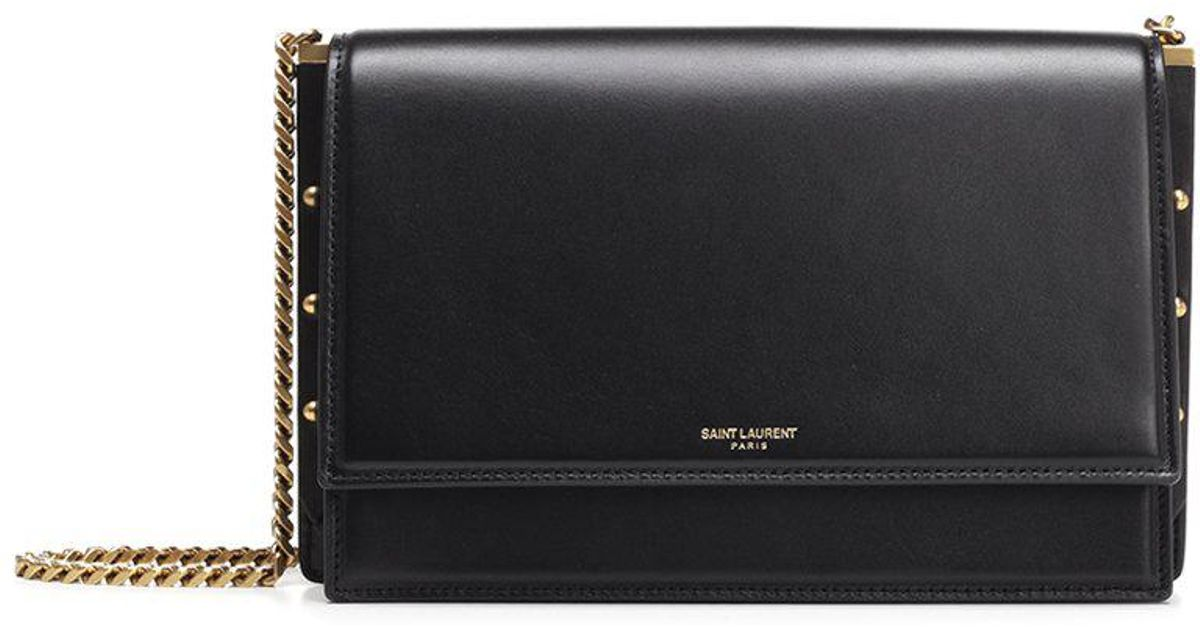 c9cac503af17 Lyst - Saint Laurent Zoe Shoulder Bag in Black