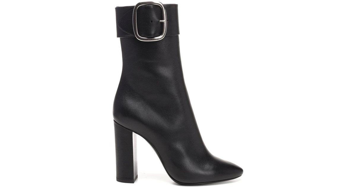 4b2c9362bf1 Saint Laurent Joplin 105 Boots in Black - Lyst