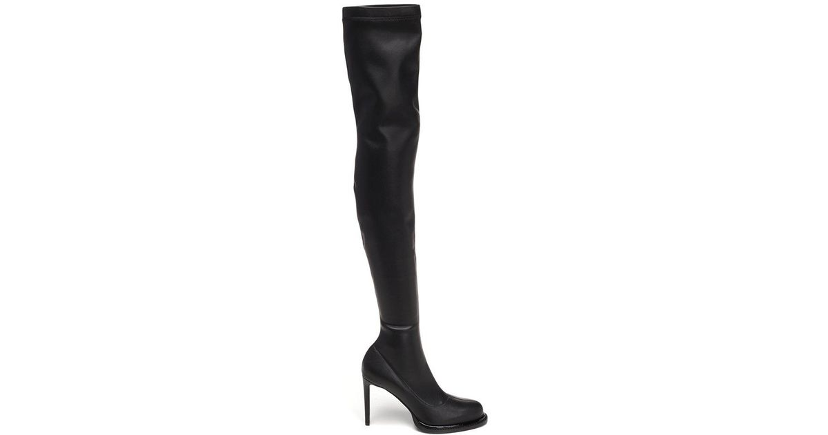 9bfe54862cb Lyst - Stella McCartney Palmer Over The Knee Boots in Black