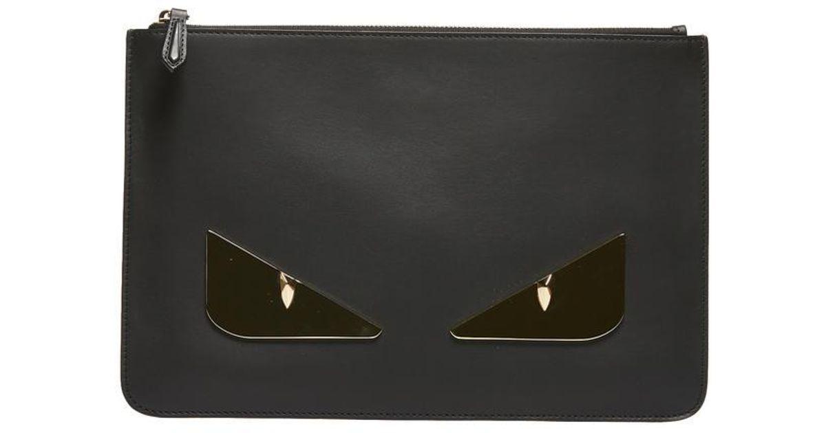 Fendi Bag Bugs Clutch Bags in Black - Lyst 478461e00696a