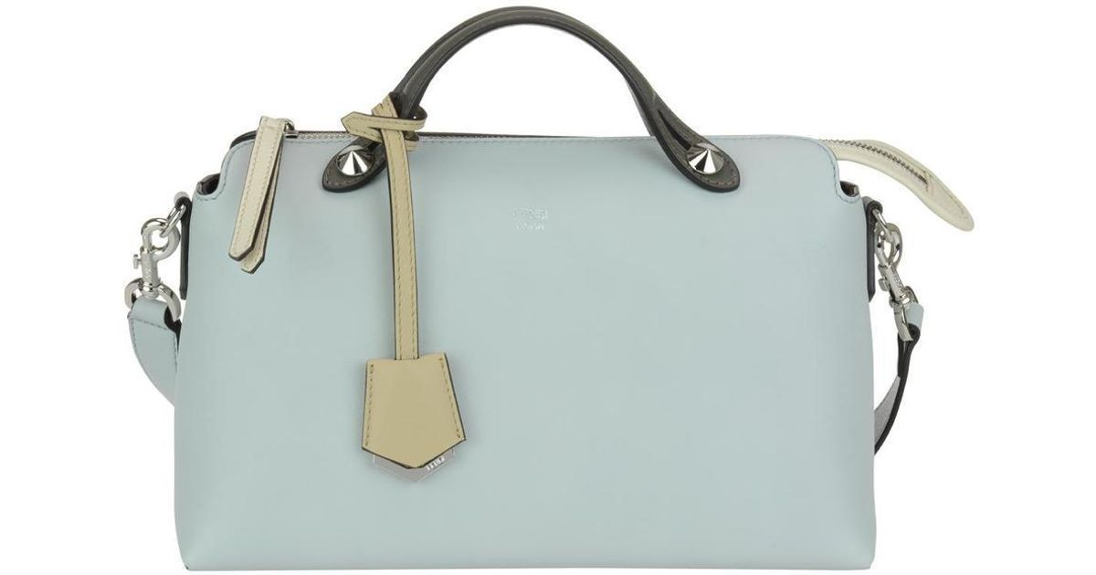 6cf3b9fdf83f Fendi By The Way Boston Bag in Gray - Lyst