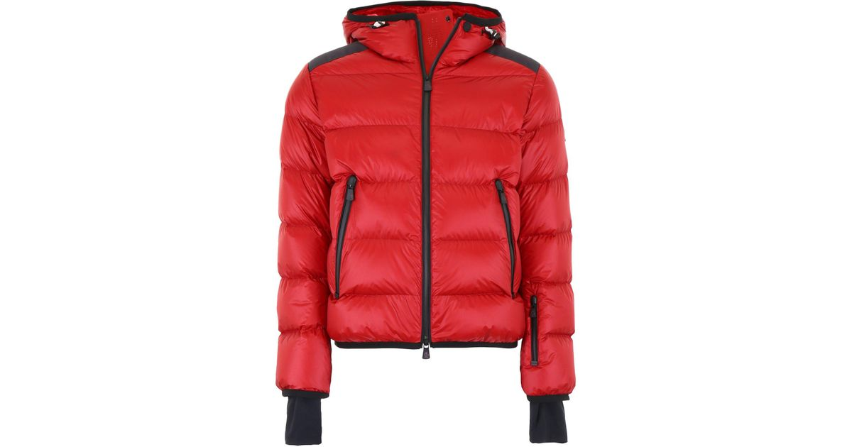 d31392e21757 Lyst - Moncler Grenoble Padded Down Hooded Jacket in Red for Men