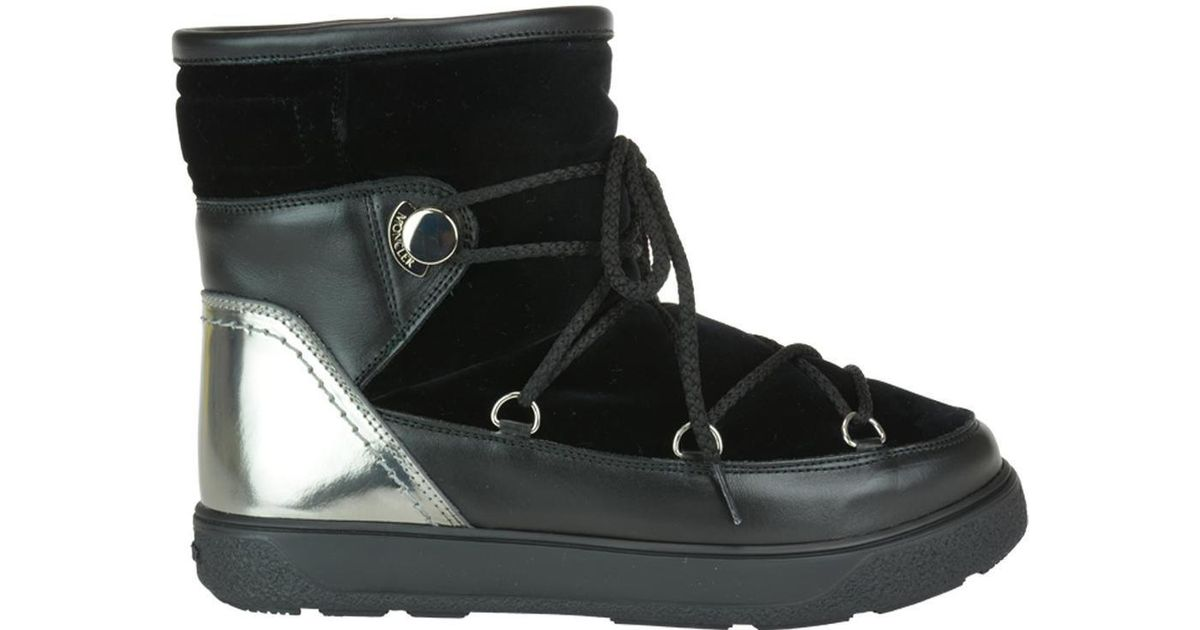 bf80ae4dd Lyst - Moncler New Fanny Snow Boots in Black - Save 48%