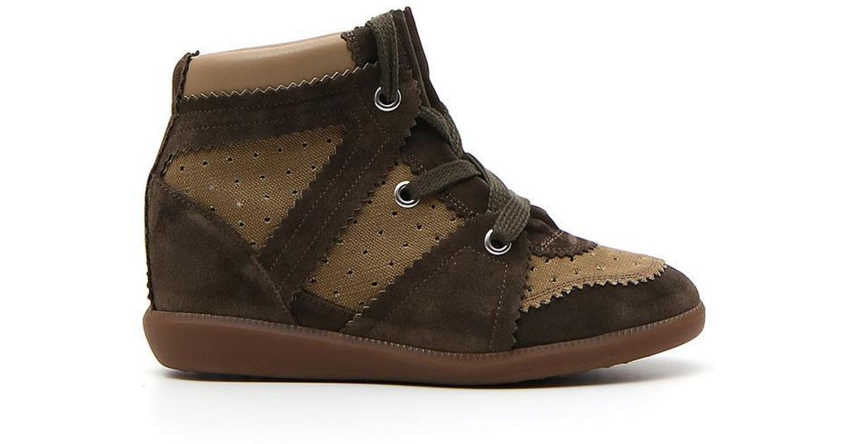 b8a17f2515e Lyst - Isabel Marant Wedge Sneaker Boots in Green