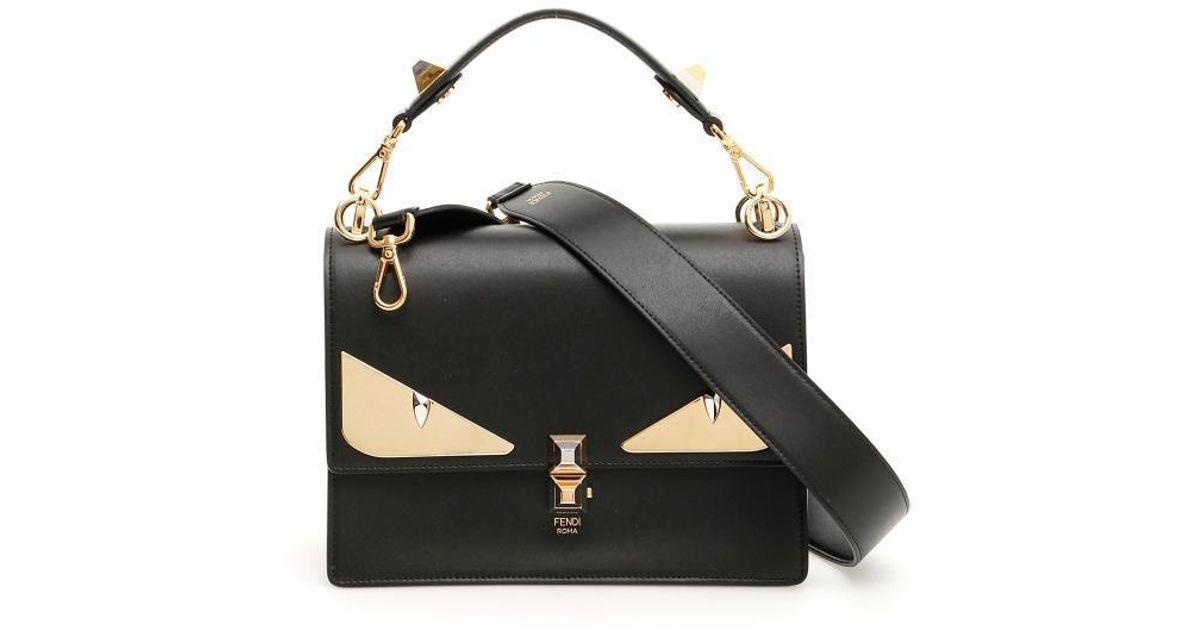 e5cf5da1e5a3 Lyst - Fendi Bag Bugs Shoulder Bag in Black