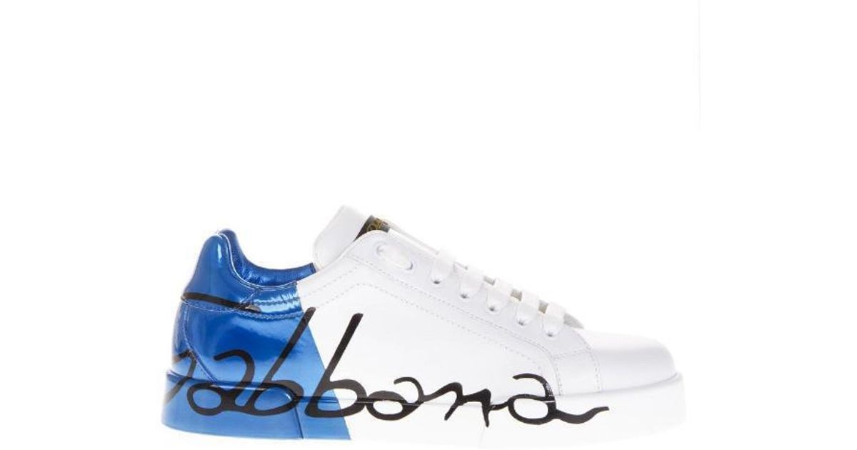 2011fde334 Lyst - Dolce & Gabbana Portofino Sneakers in Blue for Men