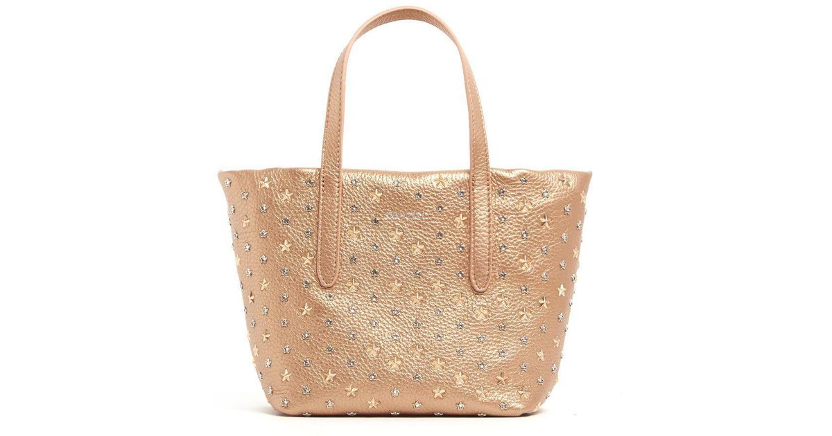7dabbdde7 Jimmy Choo Star Stud Embellished Sara Tote in Metallic - Lyst