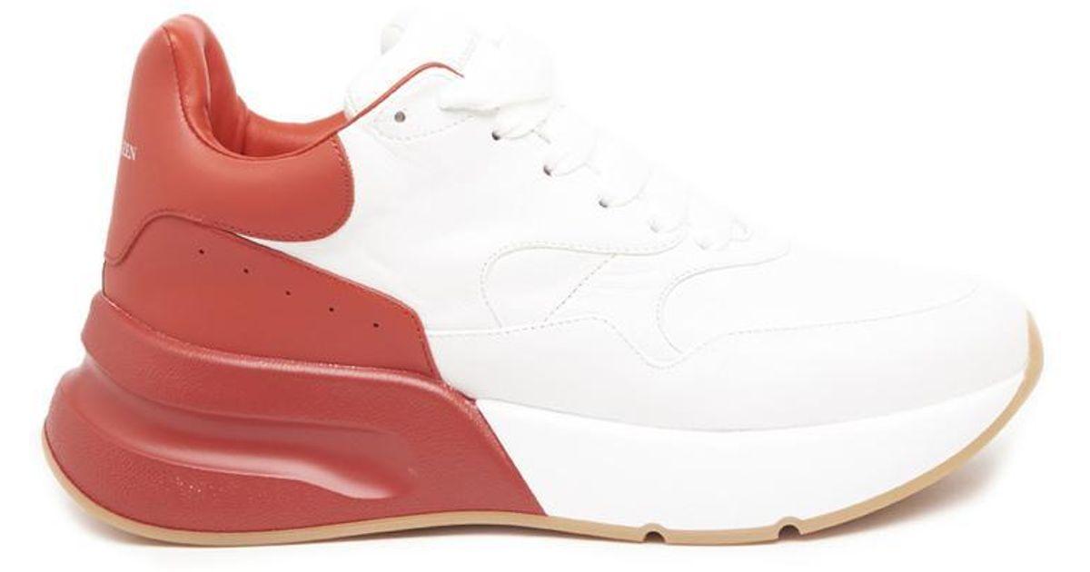 df11c7ec3b5d Lyst - Alexander Mcqueen Oversized Chunky Sport Sneakers in White ...
