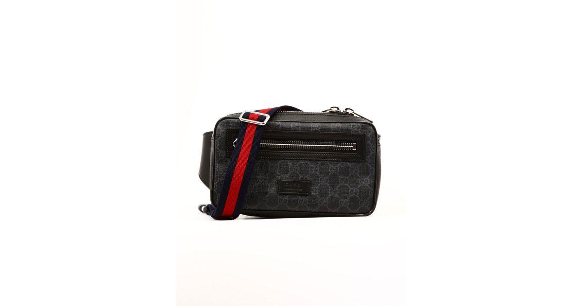 53d58d70f0a2 Lyst - Gucci GG Supreme Web Motif Belt Bag in Black for Men