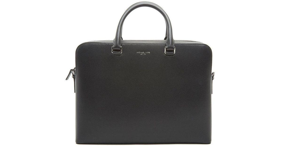 4eca39f963fd Lyst - Michael Kors Harrison Briefcase in Black for Men