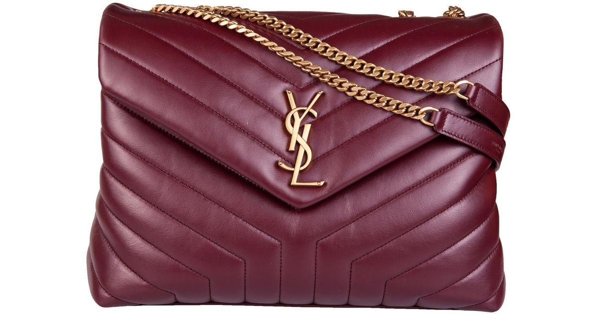 6edbbf76281b Saint Laurent Medium Lou Lou Shoulder Bag in Red - Lyst