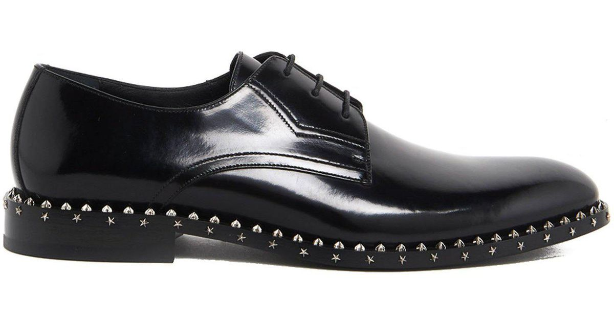 Men Jimmy Black For Studded Choo Derby Sole In Shoes Axel Lyst vaqndxv