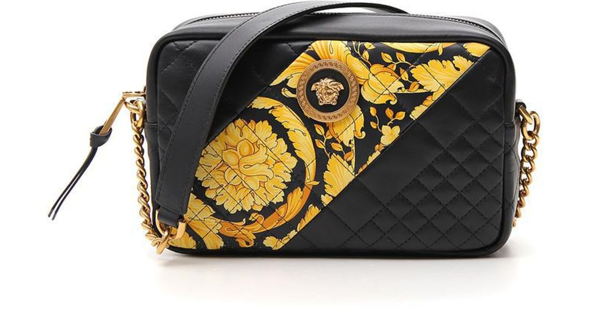 6b28e7a576e9 Lyst - Versace Quilted Shoulder Bag