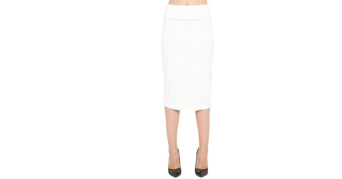 353d14d65 Lyst - Tom Ford Panelled Pencil Skirt in White