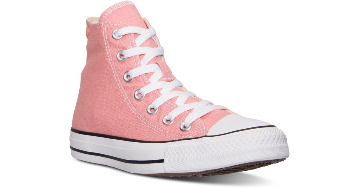 a7af53b2709 Converse Women's Chuck Taylor Hi Casual Sneakers From Finish Line in Pink -  Lyst