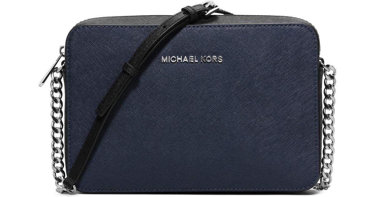 acbda3a56f4b Lyst Michael Kors Jet Set Travel Saffiano Leather Cross. Michael Kors Jet  Set Large Phone Crossbody Bag ...