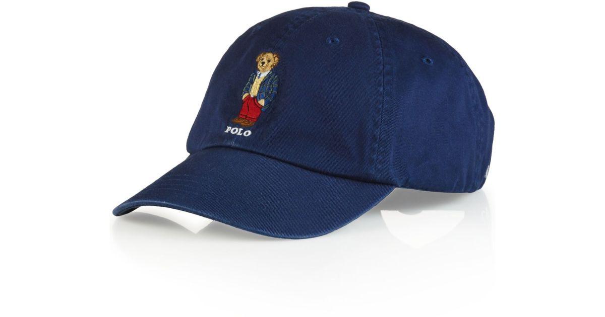 Lyst - Polo Ralph Lauren Polo Bear Chino Baseball Cap - Preppy Polo Bear in  Blue for Men 07585f7e417