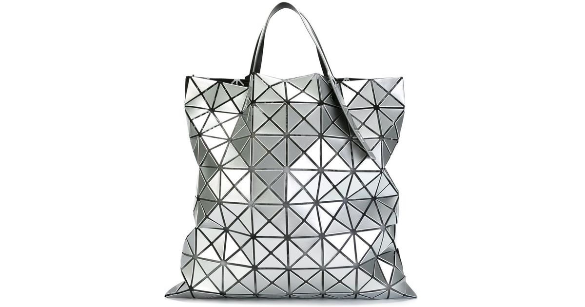 5dbf284beeb6 Bao Bao Issey Miyake Geometric Pattern Tote Bag in Gray - Lyst