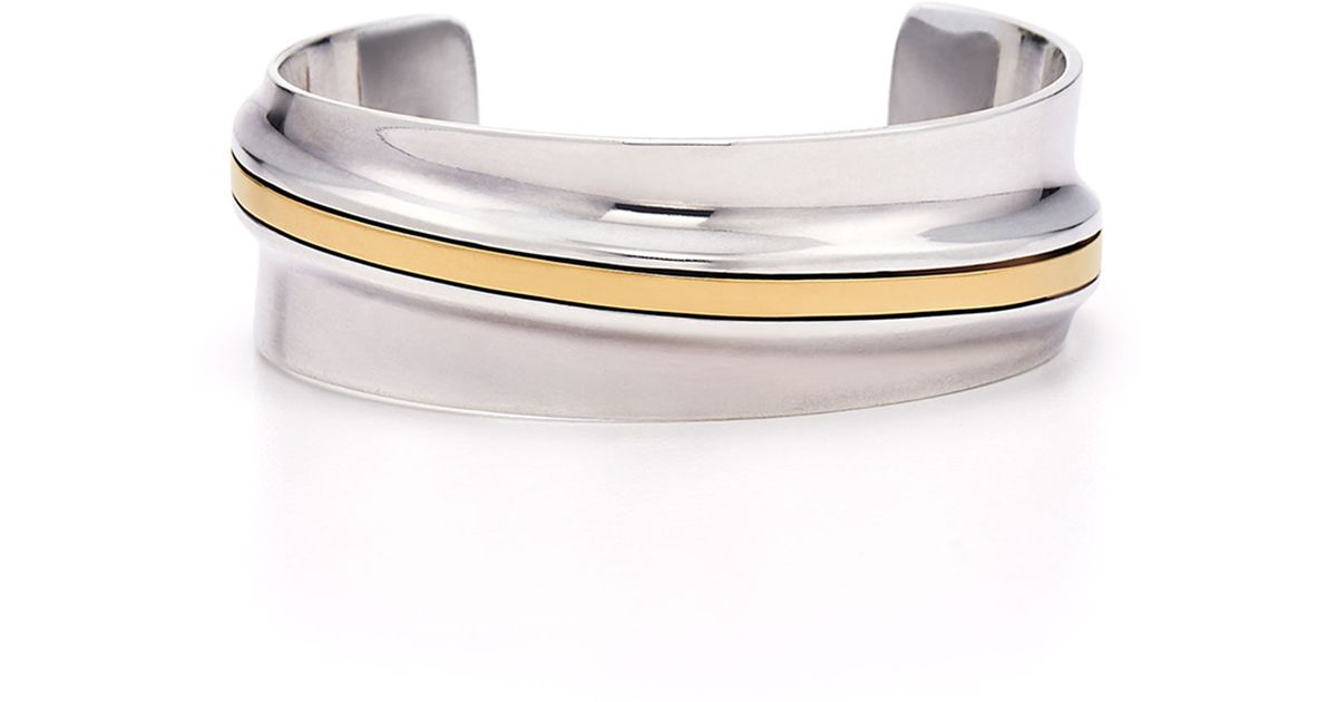 63f7eace413 Lyst - Fred Leighton Estate Vintage Sterling Silver And 18K Yellow Gold  Cuff Bracelet By Cartier in Metallic