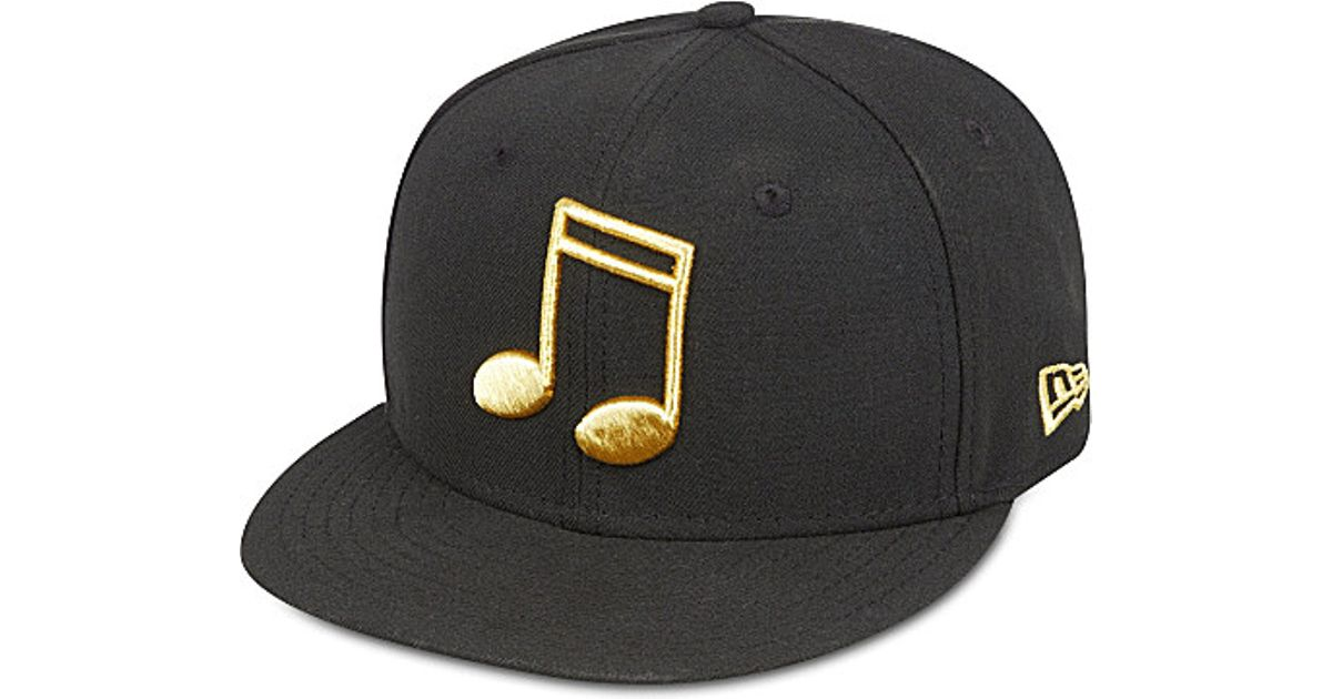KTZ 59Fifty Metallic Note Fitted Cap - For Men in Black for Men - Lyst 0b618471248c